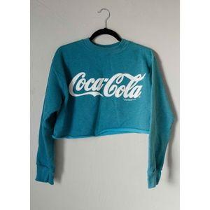 Vintage 1994 Cropped Coca Cola Crewneck Sweatshirt
